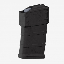 Magpul PMAG 10 5.56 AC, angled view of the front and left side