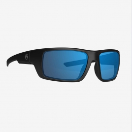 Magpul Apex Eyewear, Polarized - Black Frame, Bronze Lens/Blue Mirror angled front view