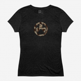 Magpul Women's Raider Camo Icon CVC T-Shirt Magpul logo on the chest in the classic Raider Camo colors