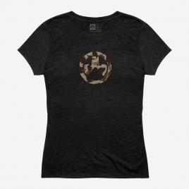 Magpul Women's Raider Camo Icon CVC T-Shirt Magpul logo on the chest in the classic Raider Camo colors