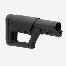 Magpul PRS Lite, view showing mounting end for Carbine and A5 buffer tubes and adjustable cheek piece