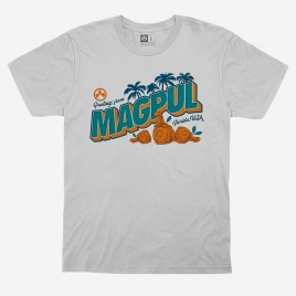 Magpul Fresh Squeezed Freedom CVC T-Shirt with graphic of D-60 PMAG Drums as Florida oranges