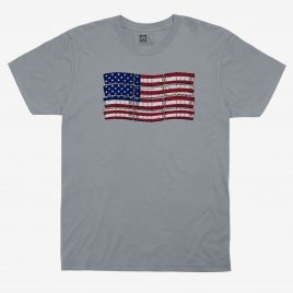 Magpul PMAG-Flag Cotton T-Shirt with graphic of US flag made of colored PMAGs