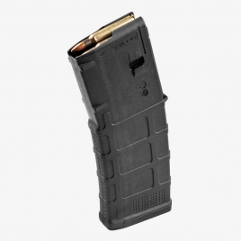 Magpul PMAG 10/30 AR/M4 side view showing all the features of its parent Gen M3 magazine