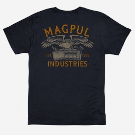 Magpul Magazine Club Cotton T-Shirt with back print of patriotic eagle carrying a PMAG