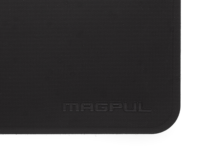 Detail of Magpul DAKA Everyday Wallet with embossed logo showing strong RF welded seams and reinforced polymer fabric