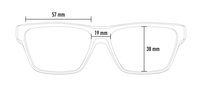 Magpul Pivot dimensions, from front