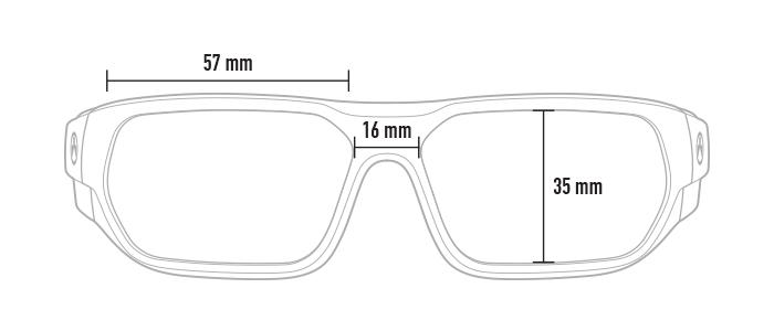 Magpul Radius dimensions, front