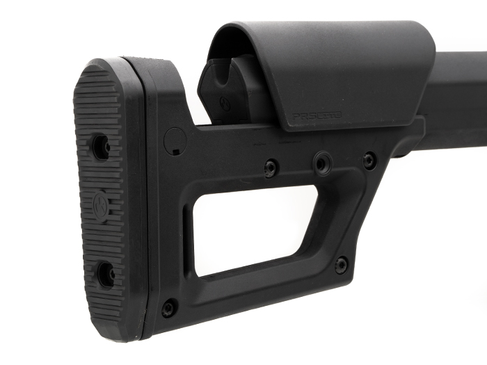 Magpul PRS Lite view showing stock extended and cheek piece raised