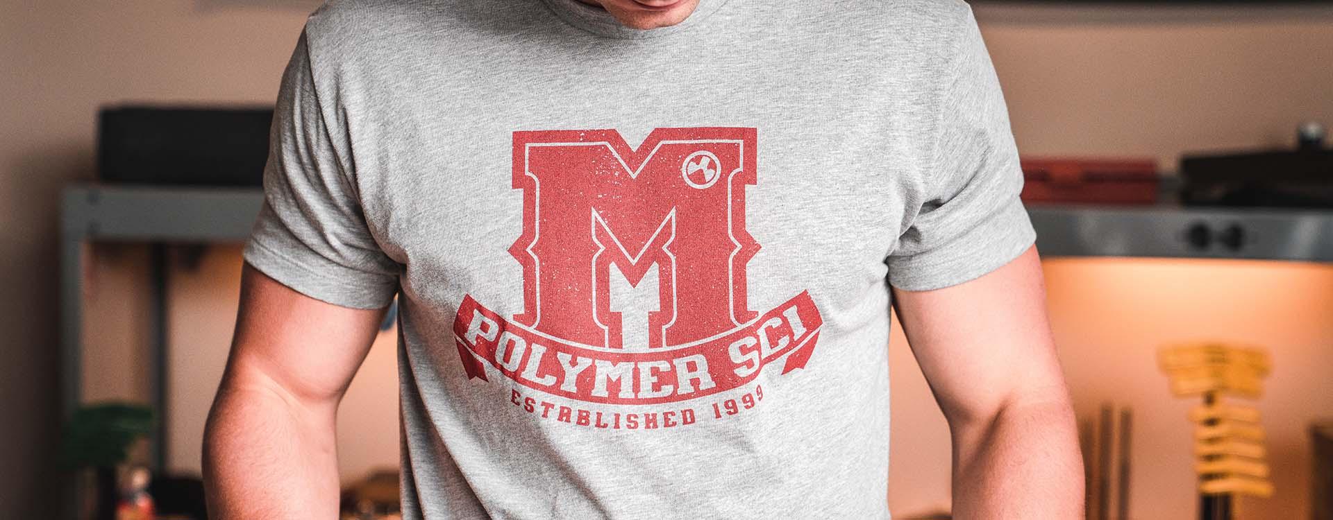 Magpul University Blend T-Shirt on man in workshop