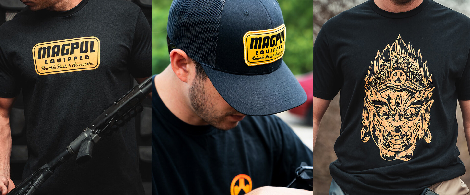 Magpul Efreeti tee plus Equipped Trucker hat and t-shirt