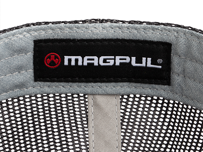Detail of inside of hat showing custom Magpul label
