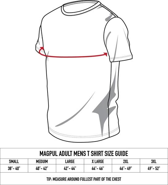 Magpul 122076 Tejas Fine Cotton Small Black T-Shirt